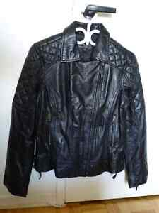 New women's leather motorcycle jacket