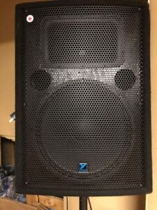 YORKVILLE PA SYSTEM WITH 3 SPEAKERS AND STANDS