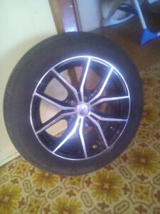 Mags DAI Alloys 5 x 100 avec pneus neuf 205/55r16