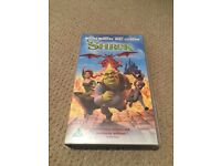 Selection of children's videos vhs, E.T, 101 Dalmations, Matilda, Shrek etc