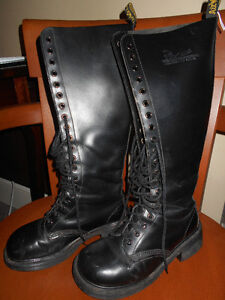 "Dr. Marten's 16"" leather boots size 6"