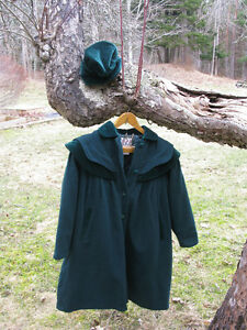 Girl's Coat and Matching Hat - Girl's size 10
