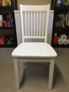 Solid Wood, White Dining Room or Desk Chairs