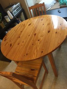 IKEA BJURSTA DINNING TABLE + 4 MATCHING CHAIRS