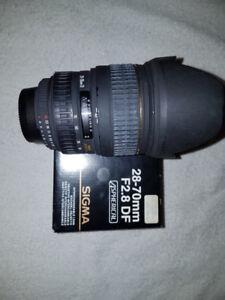 Sigma 28-70mm F2.8 EX Aspherical pour Nikon + 2 filtres
