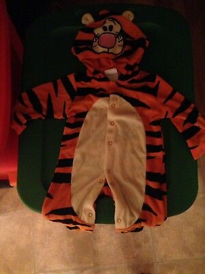 Disney Baby Winnie The Pooh TIGGER Hooded Velour Halloween Costume 0/6M So Cute