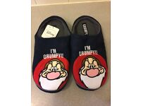 I'm Grumpy Men's slippers From Next brand new never ben used size 9 Medium .