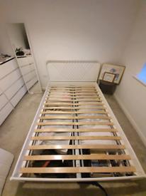 White IKEA bed frame