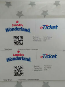 Canada Wonderland Day passes