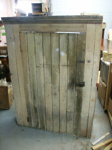 Rustic Antique Flat to Wall Cupboard