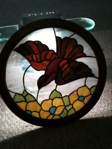 christmas gift Stained Glass Window Panel