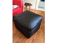 Black beanbag fold out bed/chair/pouffe