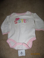 Size 6 month girl baby clothes