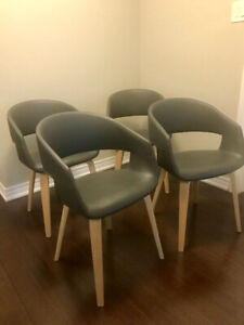 Structube mid century dining chairs