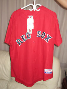 Boston Red Sox Plain Majestic MLB Baseball Jersey Adult Size L