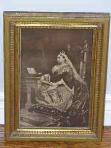 QUEEN VICTORIA PRINT  with inscription