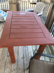 Cedar Patio Table and Chairs (new price)