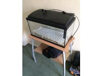 Vision bird cage/fish tank table