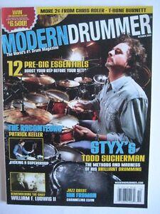 TODD SUCHERMAN (STYX) magazine MODERN DRUMMER.