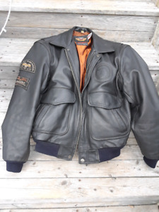 harley davidson L leather jacket