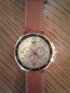 GOLD AND BROWN EMPORIO ARMANI WATCH