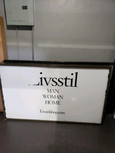 3×5 double sided commercial light box sign