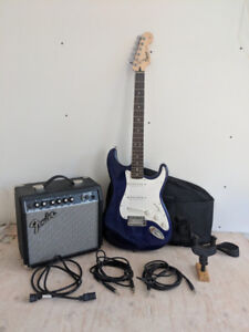 Squier by Fender Guitar and Amp