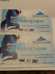 BRIMACOMBE Lift Tickets