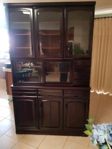 Buffet hutch display cabinet