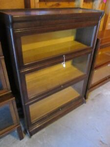 EARLY 1900 OAK STACKING BOOKCASES FROM ESTATE