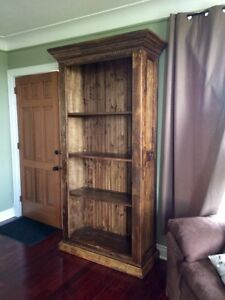 Rustic barnboard live edge custom tables cabinets benches doors