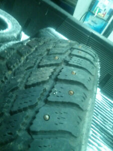 TWO.  215/70/16.  STUDDED WINTERCLAW TIRES.  . $45.