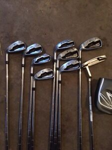 Left handed. Cobra fly z irons and Taylor made driver and woods