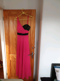New pink long party dress
