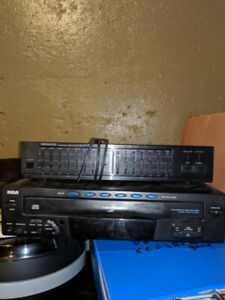 RCA 5 disc CD changer and Kenwood equalizer!
