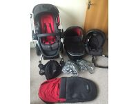 Graco Symbio Mars Travel System, buggy, car seat, push chair