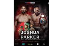 For sale. X2 pitch seats for Joshua V PArker fight in Cardiff