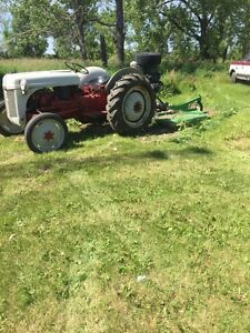 Ford 8n tractor with 6 ft rough cut mower