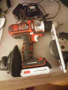 Matrix. 20 v cordless drill..attachments and voltmeter