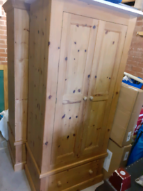 Wardrobes x 2, bedside tables x 2, chest of drawers