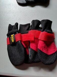 Dog booties- size large red