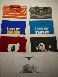 7 T-shirts m/longues (taille 2)