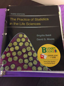 stats/bio 2244 textbook - need to sell asap!!!