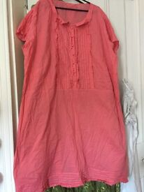 New look size 26 dress/ tunic peach colour