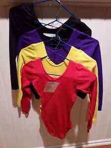 Dance long sleeve body suit -child size 8/9 Red, yellow, black, Strathcona County Edmonton Area image 1