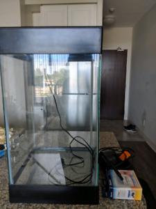 Modern Fish Tank, Filter, Thermometer and decor sold separately
