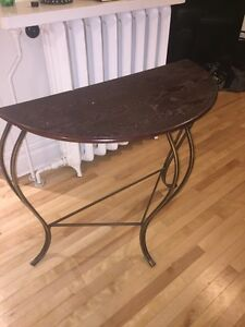 Antique Semi-circle display table