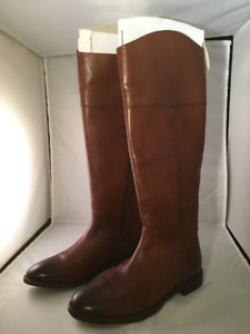 Ladies' Tan Leather Riding Boots - Johnston and Murphy - 6 1/2