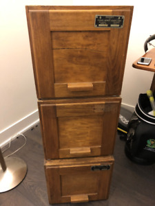 Antique Wood Filing Cabinets