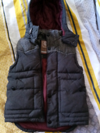Body warmer gilet x2 and raincoat for boy 5-6 years old bundle